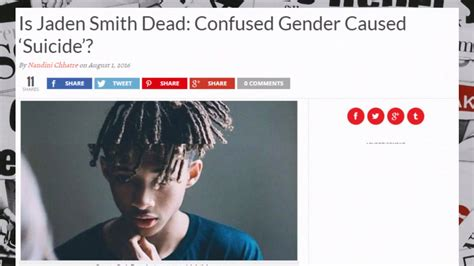 Smith Is Dead by Is Jaden Smith Dead Confused Gender Caused