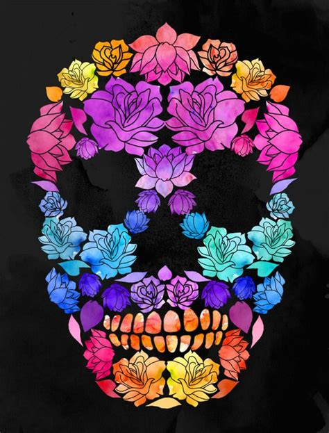 wallpaper skull flower flower skull by lia shaffer via behance sugar candy