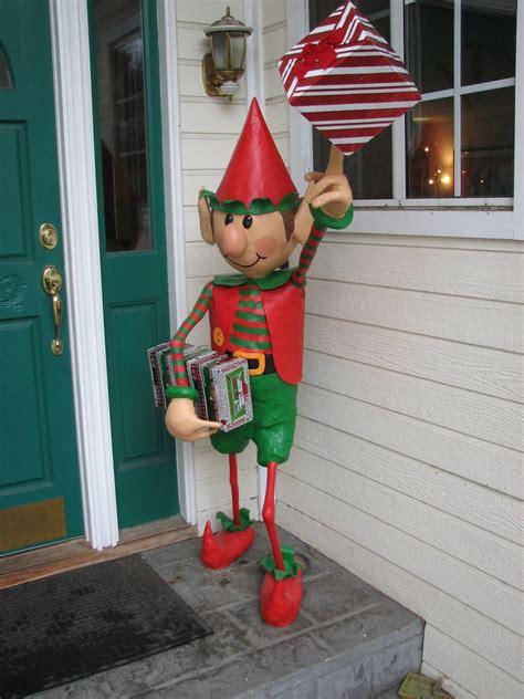 elves decorations santa s elves yard display paper mache plywood and
