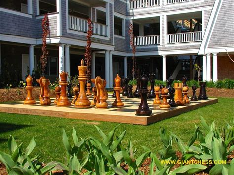 backyard chess set big chess sets offers giant chess games seen worldwide at