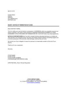 Termination Letter Template Uae Landlord Notice Of Termination Of Lease Template