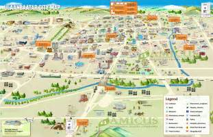 ulaanbaatar city map ulaanbaatar tourist map amicus travel
