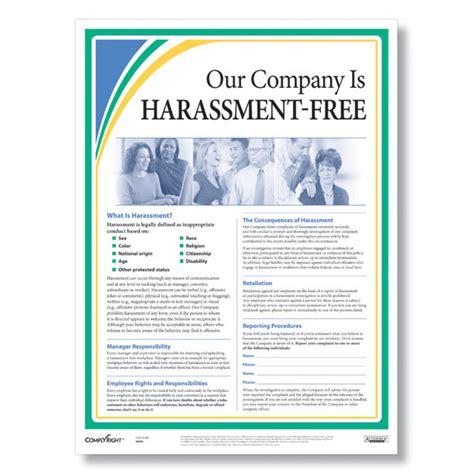printable eeoc poster anti harassment workplace poster workplace harassment policy