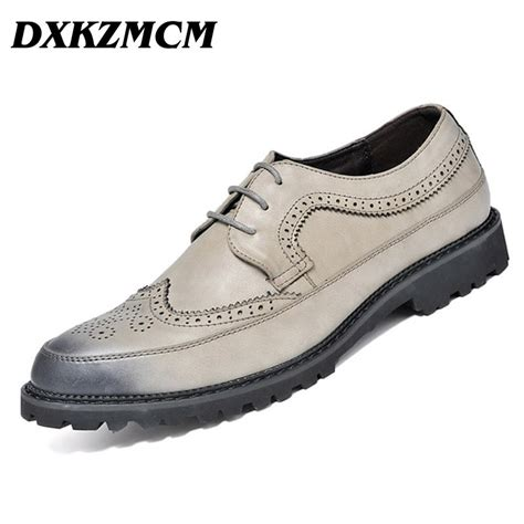 genuine leather brogue oxfords dxkzmcm 2017 oxfords designer brogue genuine leather