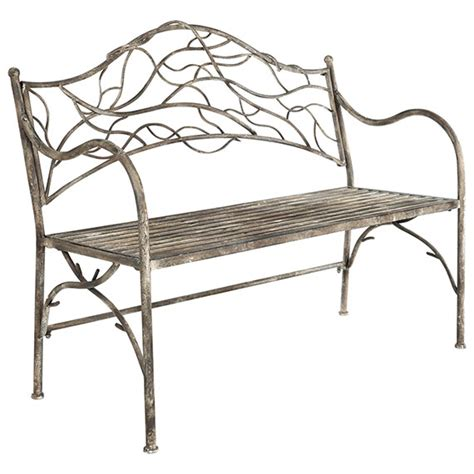 garden metal bench tendril metal garden bench oka