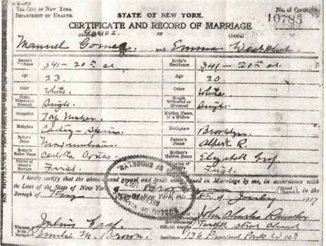 New York State Marriage License Records Birth Certificates New York City Autos Post