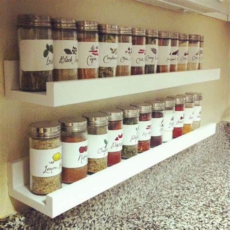 diy spice rack wall mounted best 25 ikea shelves ideas on