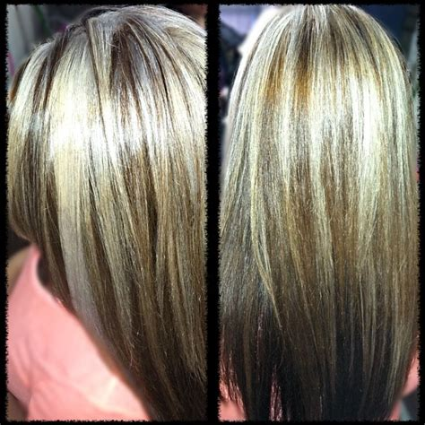 pics of platnium an brown hair styles chocolate brown hair with platinum highlights dark brown