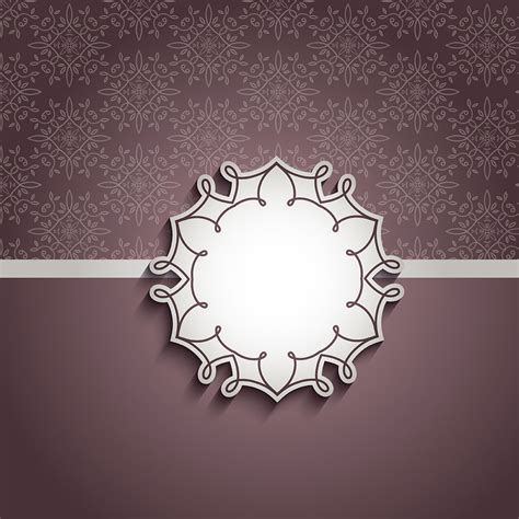 decorative background  blank label