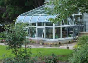 Curved Eave Aluminum Greenhouse   Glass House, LLC