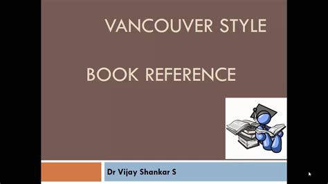 reference book vancouver book referencing vancouver style