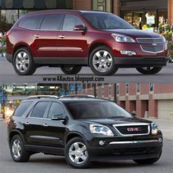 autos comparison between gmc acadia and chevrolet traverse