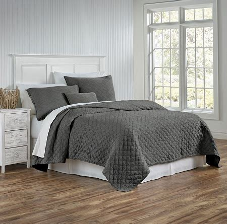 charcoal coverlet traditions linens louisa charcoal coverlet and shams from