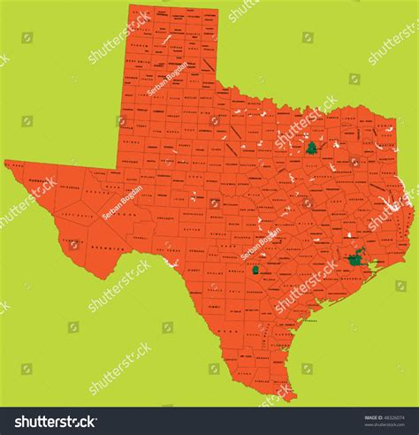 texas political map state of texas political map vector 48326074