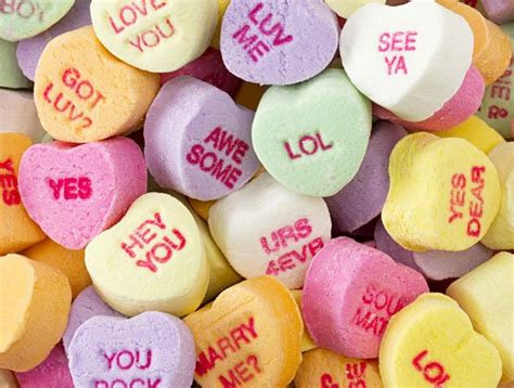 valentines candies sweethearts hearts saying personality match quiz