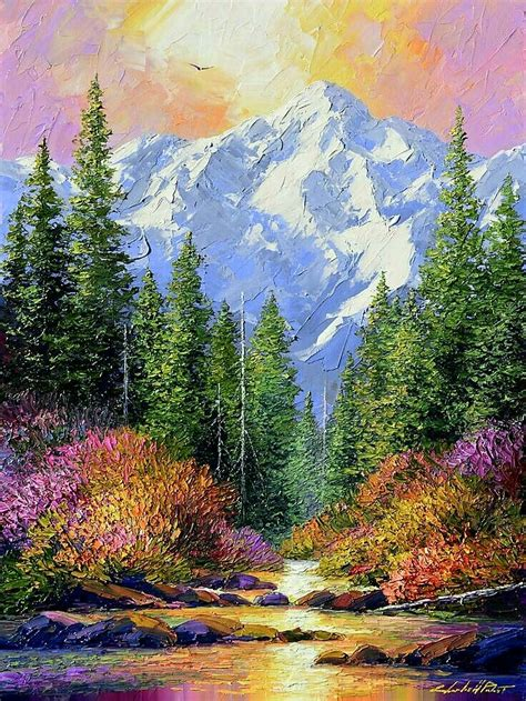 beautiful painting this is a portrait of a beautiful scenic and