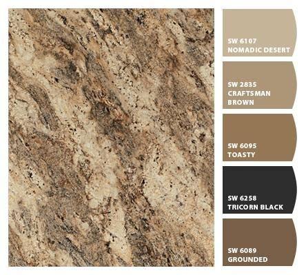 paint colors that match rainforest brown granite