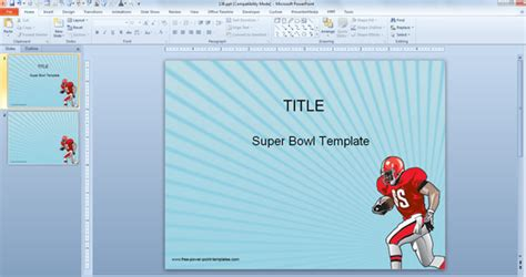 free powerpoint templates for super bowl presentations