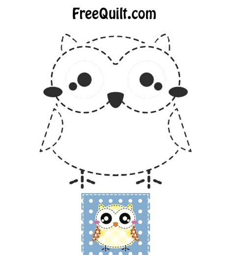 printable owl applique pattern 5 best images of printable owl baby quilt pattern
