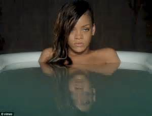 rihanna strips for an emotional soak in the bath in