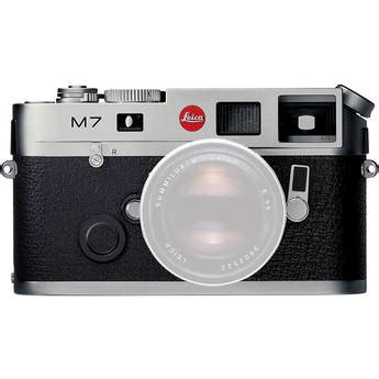 leica m7 ttl .72 rangefinder camera (silver) 10504 b&h photo
