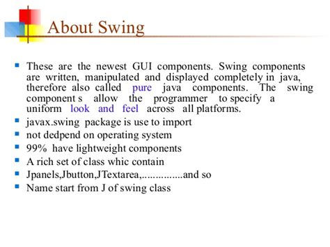 swing vs awt in java swing vs awt in java 28 images c13a awt create display