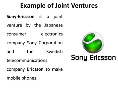 exle of joint venture joint ventures international expansion strategies