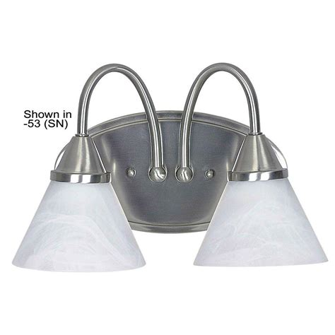 satin nickel vanity light luminance 2 light bright satin nickel vanity light f2721