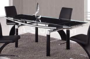 Black Glass Top Dining Table Black Glass Dining Table Best Dining Table Ideas