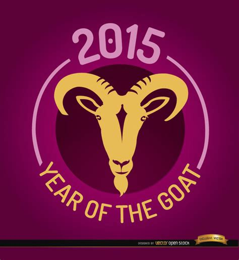 new year 2015 year of the sheep or goat new year of the goat 2015 vector free