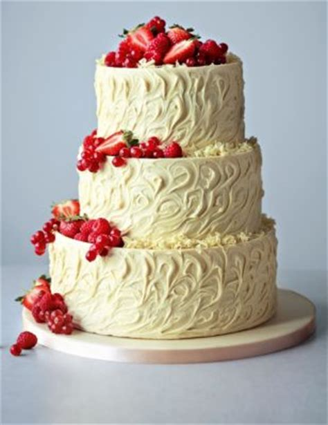 3 tier white chocolate swirl wedding cake | m&s