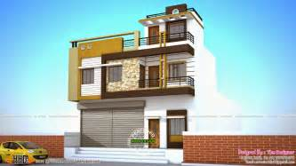4 home design store 2 house plans with shops on ground floor kerala home