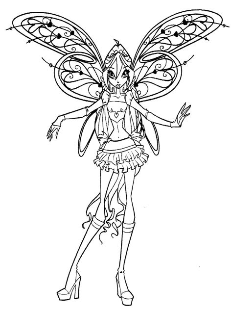 musa mermaid coloring pages