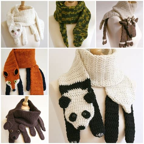 the diy crochet animal scarves 237 que