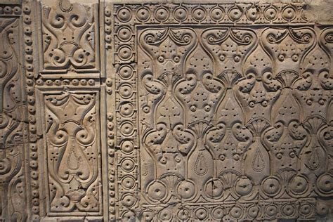 vegetal pattern in islamic art this wall is carved stucco in a beveled style built in the
