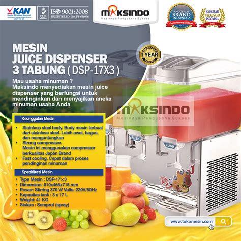 Juicer Di Yogyakarta jual mesin juice dispenser 3 tabung 17 liter dsp17x3