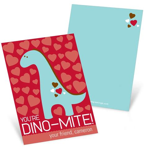 valentines day card for dino mite s day cards for pear tree