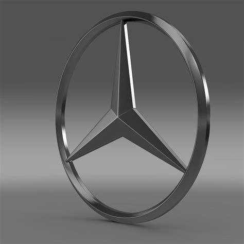 logo mercedes 3d mercedes logo 3d model max obj 3ds fbx c4d lwo lw