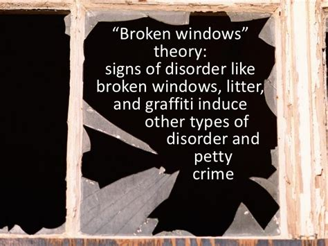broken windows theory signs of