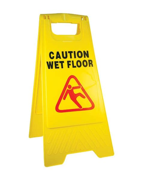 Sign Floor by Caution Floor Symbol