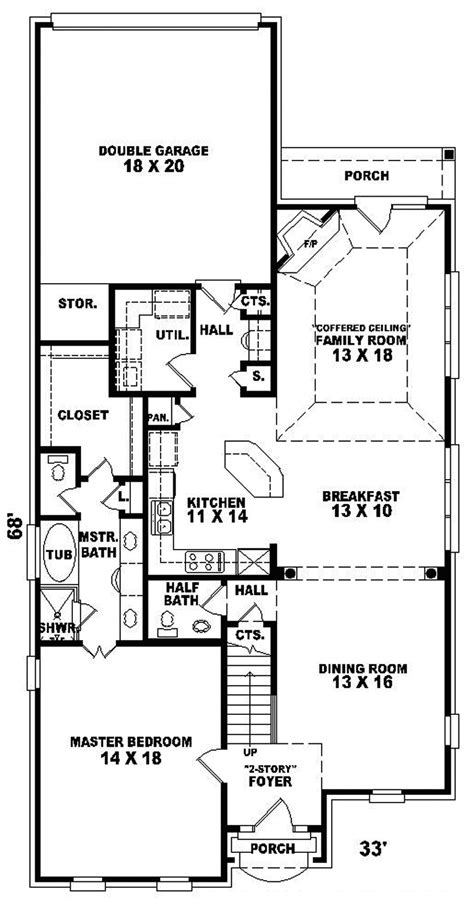 House Plans For Narrow Lots Plan W2300jd Craftsman Corner Lot Narrow Lot Northwest