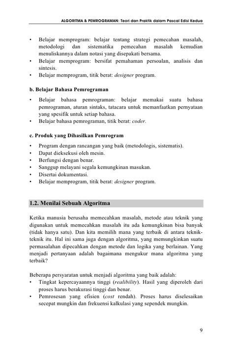 Belajar Pemrograman Fortran Cd algoritma dan pemrograman teori dan praktik dalam pascal