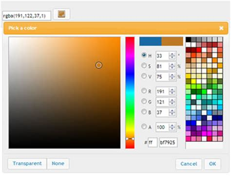 jquery ui layout background color color picker jquery plugins