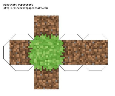 Minecraft Papercraft Grass - 7 best images of minecraft printable grass printable