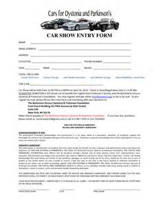 car form template car show registration form templates find word templates