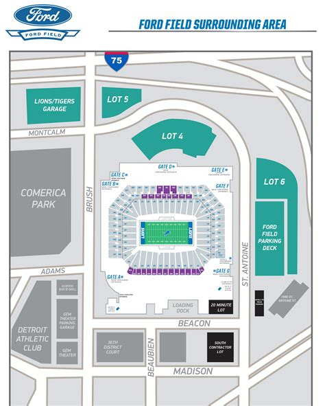 detroit lions 3d seating chart ford field seating map ford field seating chart concert