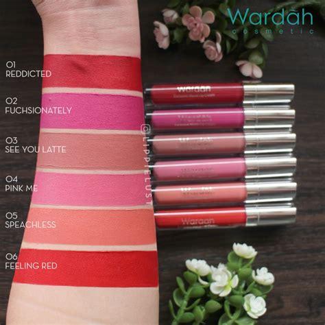 Wardah Lip Series swatch review wardah exclusive matte lip 12
