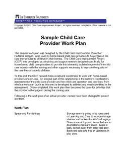 community consultation report template sle child care provider work plan enterprise