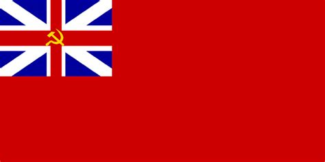Great Britain Flags Ensign Ms 2001 sam s flags communist isles alternative history