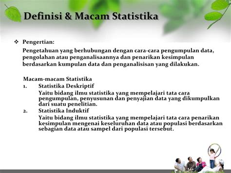 Pengantar Statistik pengantar statistik